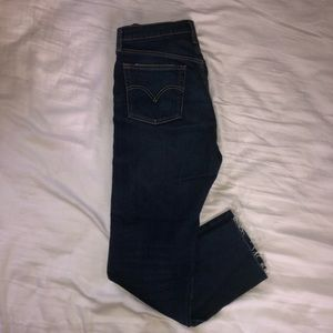LEVI'S 501 high waisted straight jeans